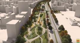 Wizualizacja 3D parku nad tunelem POW
